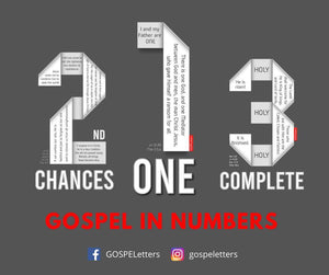 Important GOSPEL Messages in Numbers. 2nd Chances Prison Ministry, Kairos Ministries, Aliyah Return Ministries,