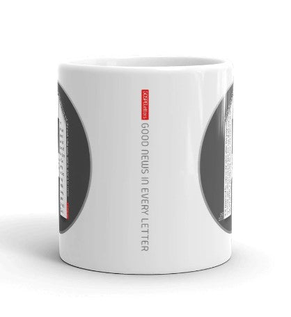 GOSPEL Mug with Good News in Letter C - GOSPELetters