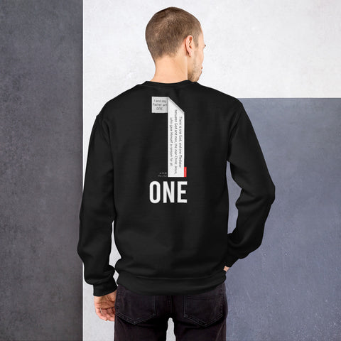 GOSPEL in Number 1 Unisex Sweatshirt - ONE WAY - GOSPELetters