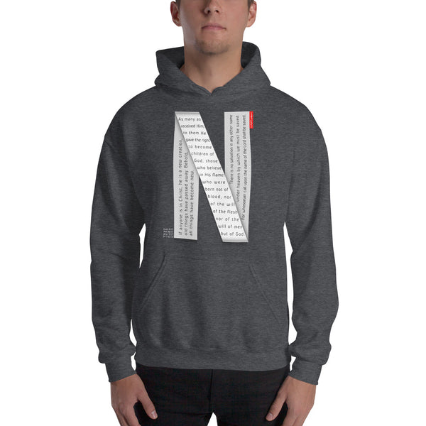 GOSPEL Unisex Hoodie - Good News in Letter N - GOSPELetters