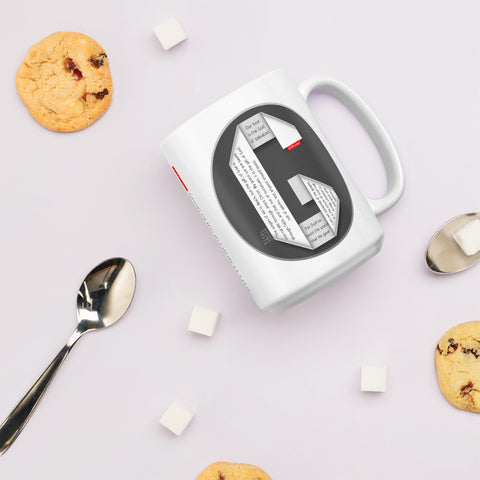 GOSPEL Mug with Good News in Letter G - GOSPELetters
