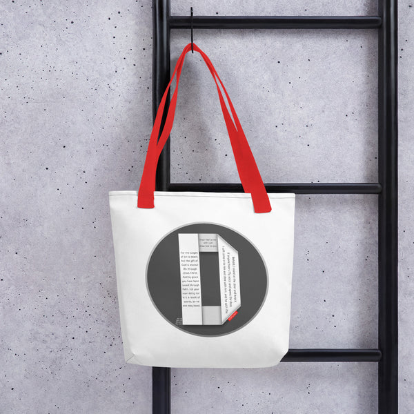 GOSPEL Tote Bag with Good News in Letter D - GOSPELetters