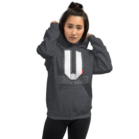 GOSPEL Unisex Hoodie - Good News in Letter U - GOSPELetters