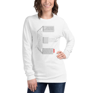 GOSPEL Unisex Long-Sleeve T-Shirt - Good News in Letter E - White Collection - GOSPELetters