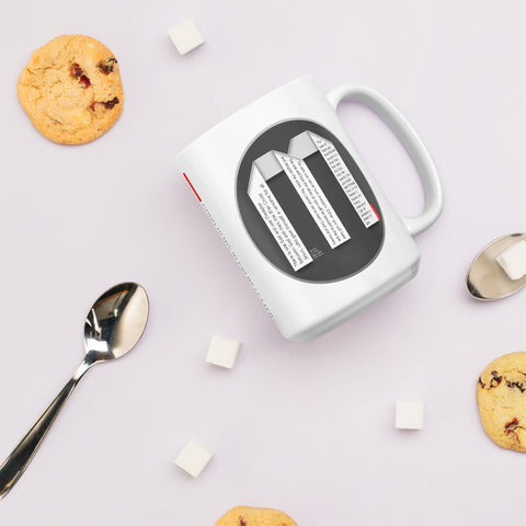 GOSPEL Mug with Good News in Letter M - GOSPELetters