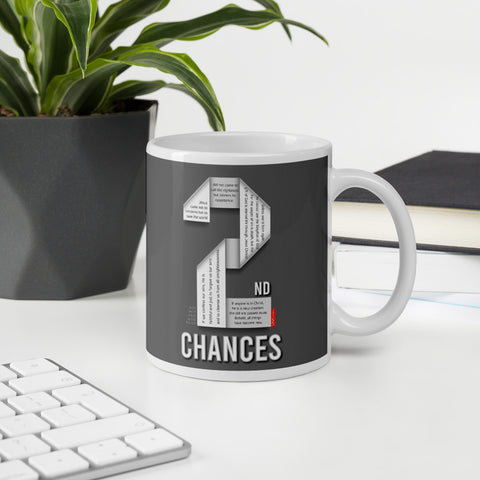 GOSPEL in Number 2 Mug - Always Hope with 2nd Chances in God - GOSPELetters