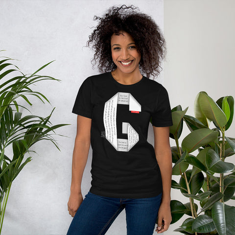 GOSPEL Unisex Short-Sleeve T-Shirt - Good News in Letter G - GOSPELetters