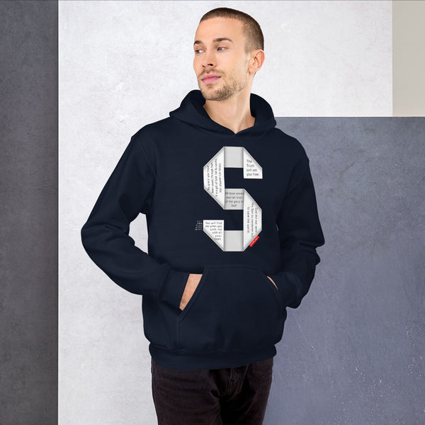 GOSPEL Unisex Hoodie - Good News in Letter S - GOSPELetters