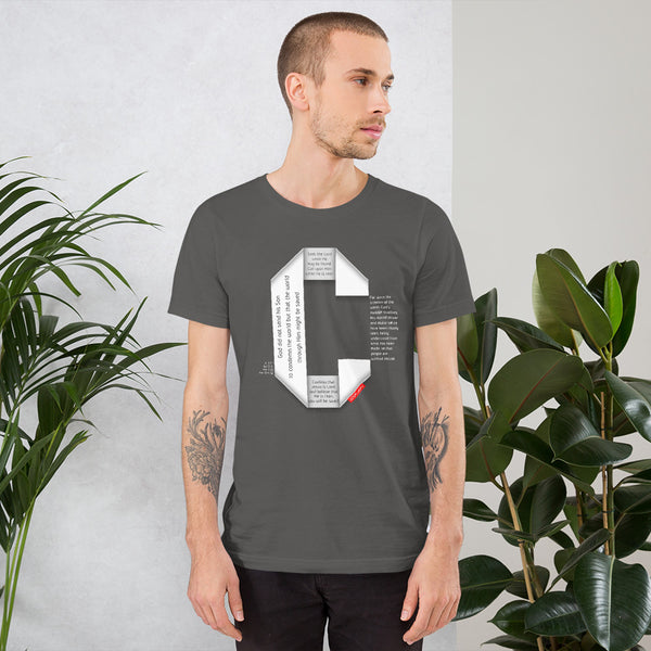 GOSPEL Unisex Short-Sleeve T-Shirt - Good News in Letter C - GOSPELetters