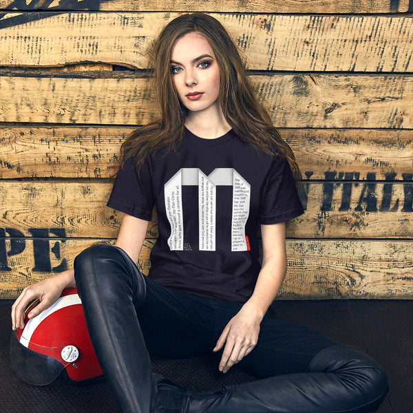 GOSPEL Unisex Short-Sleeve T-Shirt - Good News in Letter M - GOSPELetters
