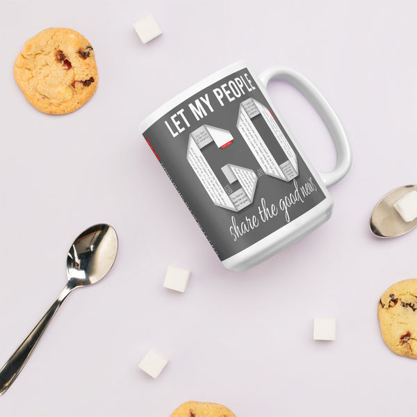 GOSPEL Mug - Let My People GO Share the Good News! - GOSPELetters