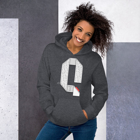 GOSPEL Unisex Hoodie - Good News in Letter Q - GOSPELetters