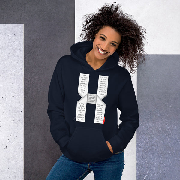 GOSPEL Unisex Hoodie - Good News in Letter X - GOSPELetters