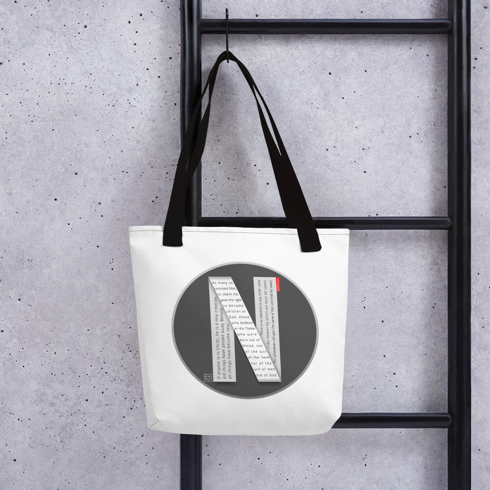 GOSPEL Tote Bag with Good News in Letter N - GOSPELetters