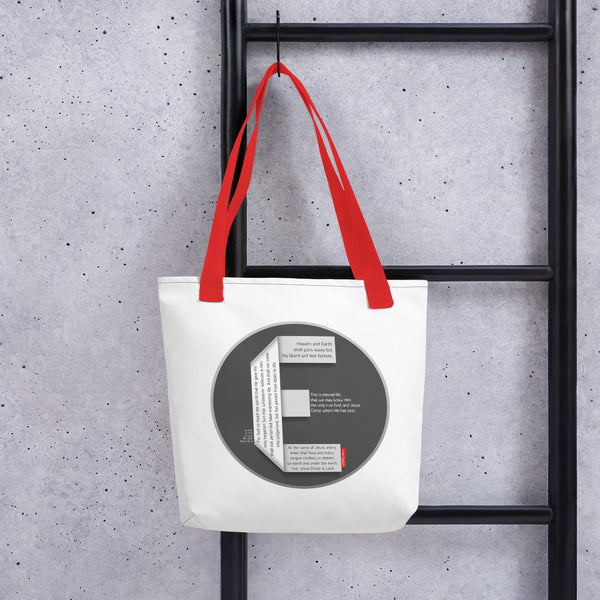 GOSPEL Tote bag with Good News in Letter E - GOSPELetters