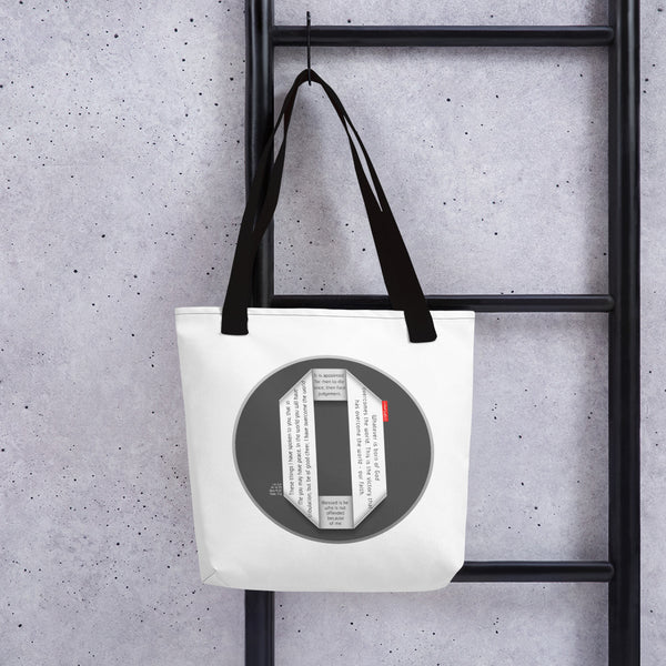 GOSPEL Tote Bag with Good News in Letter O - GOSPELetters