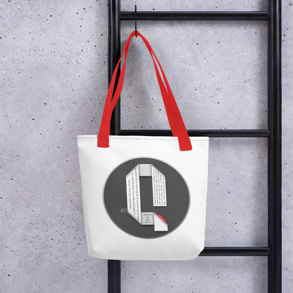 GOSPEL Tote Bag with Good News in Letter Q - GOSPELetters