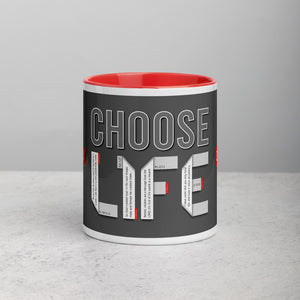 CHOOSE LIFE GOSPEL Unique Coffee Mug with Color Inside - GOSPELetters