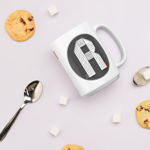 GOSPEL Mug with Good News in Letter R - GOSPELetters
