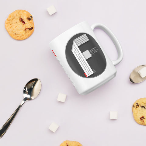 GOSPEL Mug with Good News in Letter F - GOSPELetters