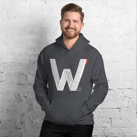 GOSPEL Unisex Hoodie - Good News in Letter W - GOSPELetters