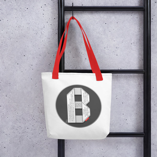GOSPEL Tote Bag with Good News in Letter B - GOSPELetters