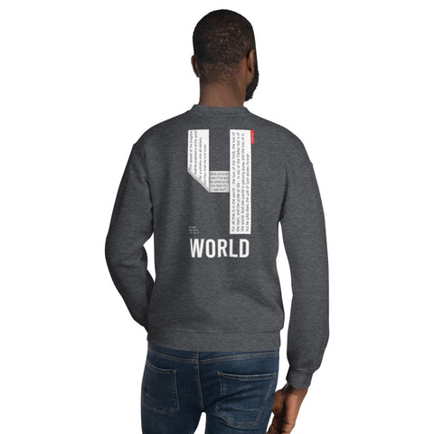GOSPEL in Number 4 Unisex Sweatshirt - WORLD - GOSPELetters