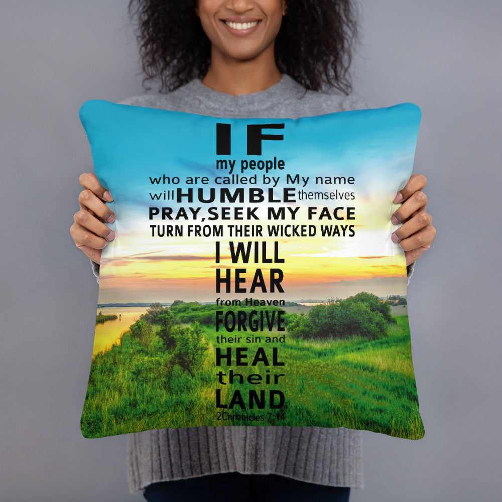 Prayer Pillow - If My People - GOSPELetters