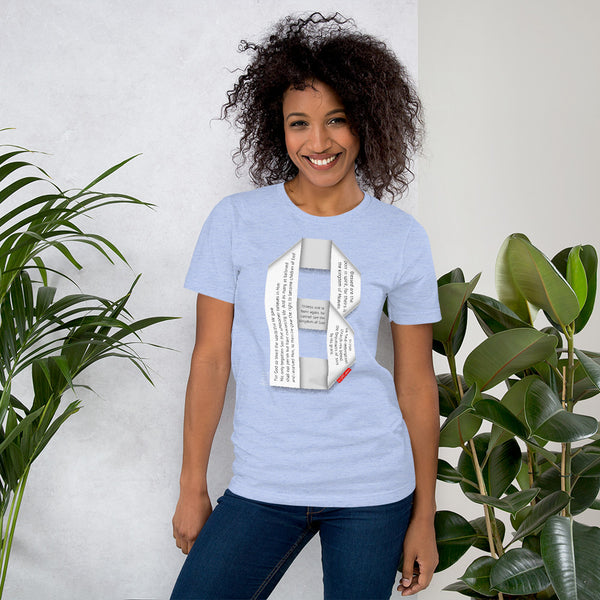 GOSPEL Unisex Short-Sleeve T-Shirt - Good News in Letter B - GOSPELetters