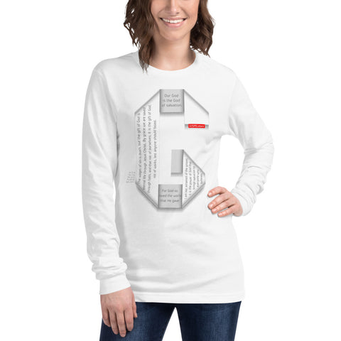 GOSPEL Unisex Long-Sleeve T-Shirt - Good News in Letter G - White Collection - GOSPELetters