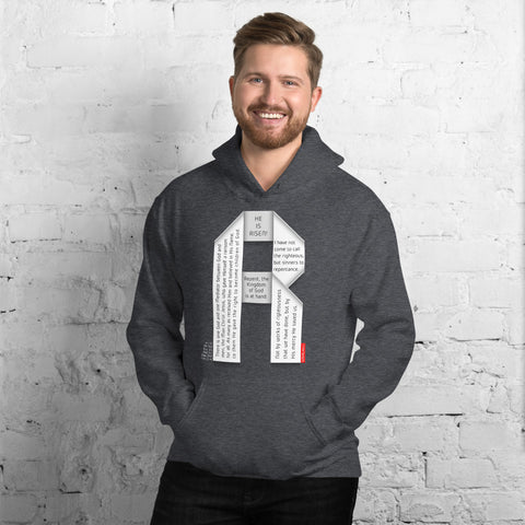 GOSPEL Unisex Hoodie - Good News in Letter R - GOSPELetters