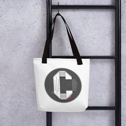 GOSPEL Tote Bag with Good News in Letter C - GOSPELetters