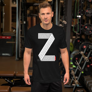 GOSPEL Unisex Short-Sleeve T-Shirt - Good News in Letter Z - GOSPELetters