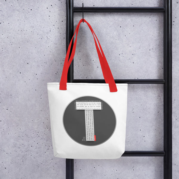 GOSPEL Tote Bag with Good News in Letter T - GOSPELetters