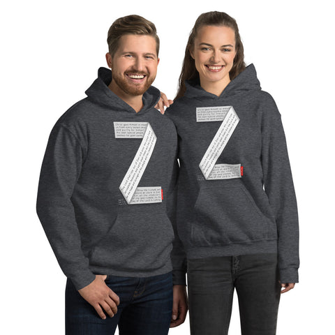 GOSPEL Unisex Hoodie - Good News in Letter Z - GOSPELetters