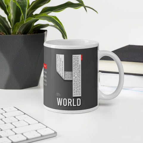 GOSPEL in Number 4 Mug - WORLD - GOSPELetters
