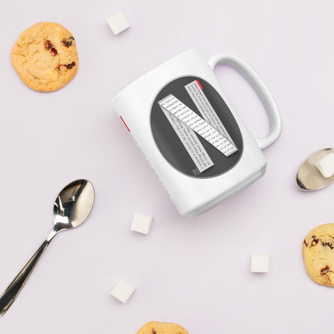 GOSPEL Mug with Good News in Letter N - GOSPELetters