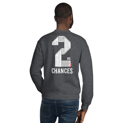 GOSPEL in Number 2 Unisex Sweatshirt - Always Hope with 2nd Chances in God - GOSPELetters