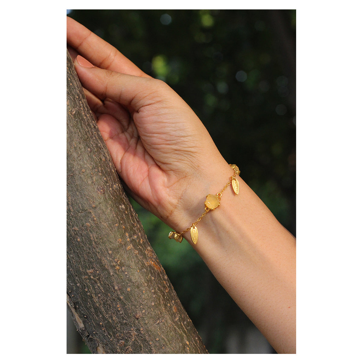 Leaf & Love Citrine Bracelet
