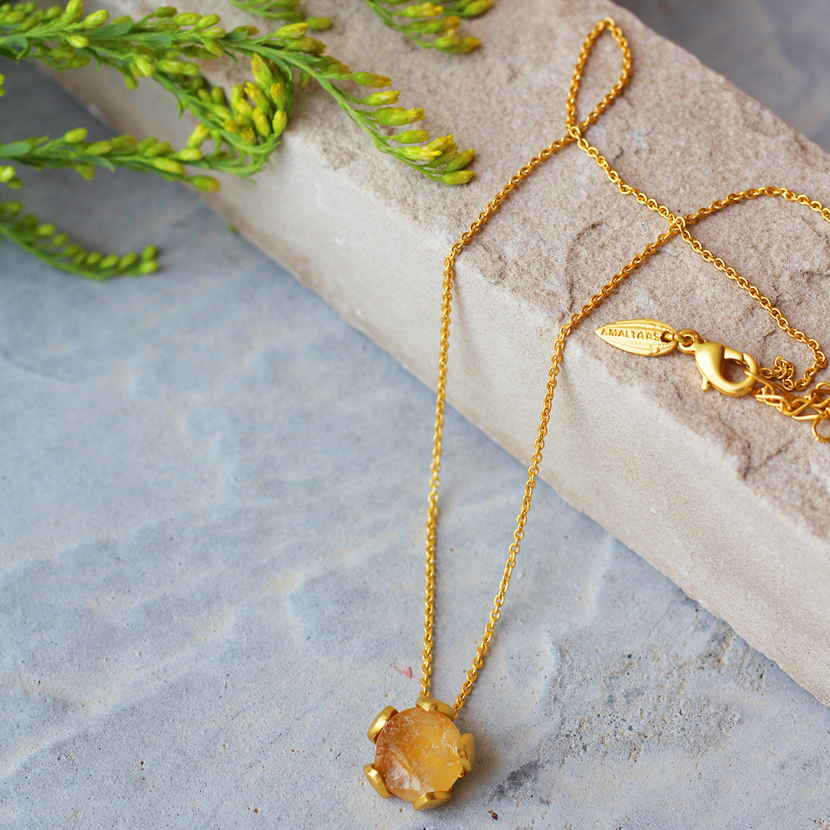 Citrine Petal Necklace