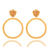 Petal Hoop Yellow Citrine