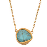 Stone and Chain - Blue Turquoise