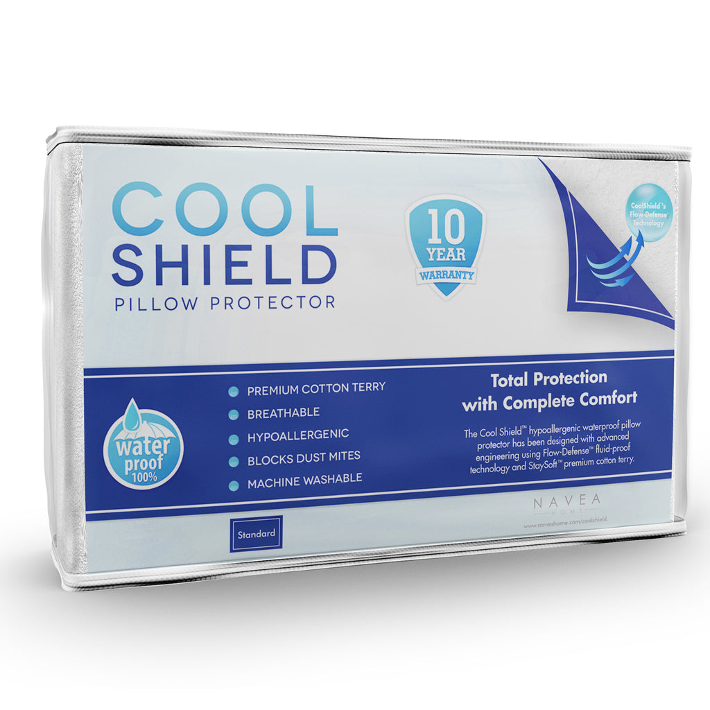 No Allergy Waterproof Pillow Protector Cool Shield