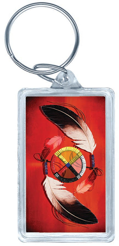 Acrylic Key Tag (Red)