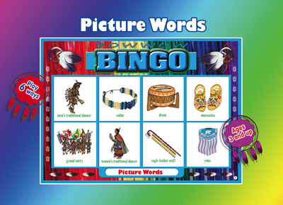 Picture word bingo game