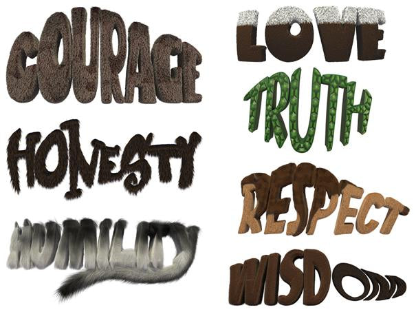 Seven Teachings Words Poster Set