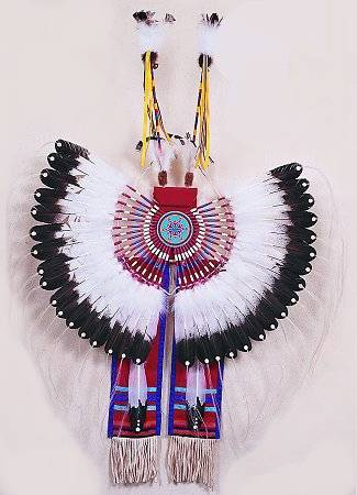 Deluxe Traditional Bustle Kit - Jumbo Imitation Eagle Wing Feathers