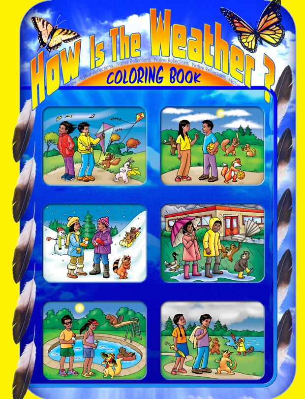 Coloring Book - How Is The Weather?