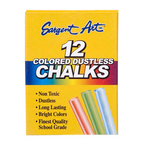 Dustless Chalk - Colored - 12 Pieces