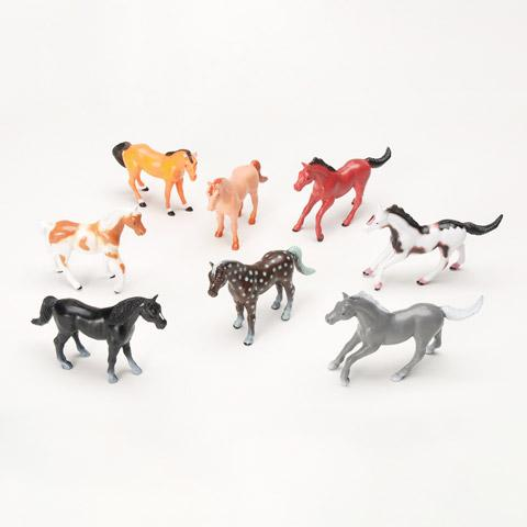 Plastic Horses - 2 Inches - 8 Pieces